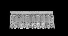 "Heritage Lace White VICTORIAN ROSE Window Valance 60"" W x 16"" L"