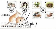 Jersey Wildlife Preservation Trust fdc 1997 SIGNED Peter Andre