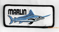 BLUE MARLIN FISH Sport Trophy COLLECTOR SOUVENIR Hat Patch DEEP SEA FISHING WOW