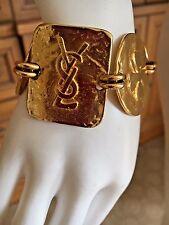 Yves Saint Laurent Rive Gauche 1970's Golden Bracelet with Lucky Charm Symbols
