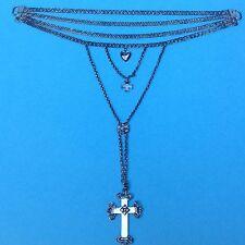 Silber Halskette Kropfkette Erbskette Kruzifix Necklace Trachtenschmuck By.~1900
