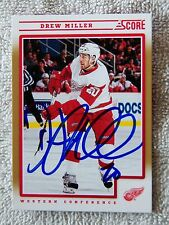 Detroit Red Wings Drew Miller Signed 12/13 Score Gold Card Auto