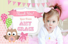THANK YOU CARDS, GIRLS  - 10 PERSONALISED FLAT PHOTO CARD Birthday, Christening