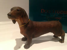 Red Brown Minature Standard Daschund Ornament Dog Gift Figure Figurine