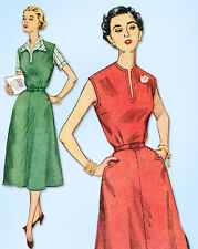 1950s Vintage Simplicity Sewing Pattern 4379 Uncut Misses Dress Skirt Jumper 36B