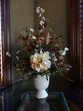 Silk Floral Flower Arrangement Centerpiece Mocha Brown & Cream Hydrangeas