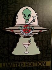 Hard Rock Cafe Las Vegas 2017 Area 51 UFO With Martini pin