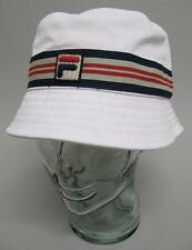 Fila Vintage Casper Bucket Hat in White with Navy & Red - one size fits all