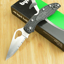 Spyderco Byrd Meadowlark 2 8Cr13MoV Black FRN Handle Lockback Knife BY04PSBK2