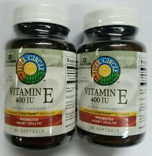 FULL CIRCLE Vitamin E 400 IU, 120 Softgels, Antioxidant Protection (2 X 60 ct.)