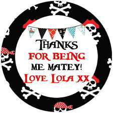 PIRATE PERSONALISED CHILDREN'S PARTY STICKERS, SEALS LABELS