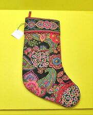 Vera Bradley Symphony In Hue CHRISTMAS STOCKING Rare Retired Authentic - NWT