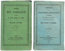 1882 France - LOUVRE and LUXEMBOURG - Museum Guide Books - COLLECTION  LA CAZE