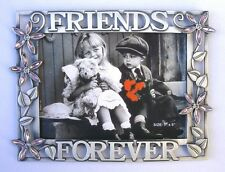 "7""x5"" 'Friends Forever' w/Acrylic Flower 4mm Crystals Photo Frame(Item # 153)"
