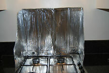 Disposable aluminium splashback / splash back for kitchen cookers and hobs