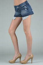 SEVEN FOR ALL MANKIND DITSY BOYFRIEND DENIM SHORTS W27 UK 8/10