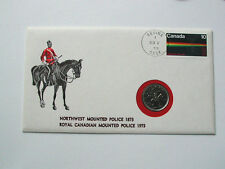 1973 CANADA 10¢ Stamp Cover & 25 Cent Coin 1873-1973 NWMP RCMP Centennial