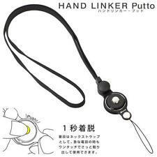 Hand Linker Putto Mobile Neck Strap Detachable Ring Holder Accessory (Black)