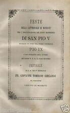 PIEMONTE_MONDOVI'_SCULTURA_BUSTO DI PIO V_VESCOVO GHILARDI_ANTICA EDIZIONE_1873