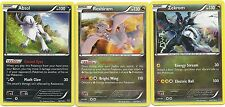 3 RARE HOLO- ABSOL RESHIRAM ZEKROM- XY Roaring Skies Pokemon Cards-MINT