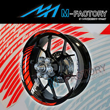 "For Honda Motorcycle #GP2 Red Fluorescent 17"" Wheel Sticker Rim Decals"