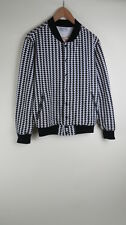 American Apparel black white houndstooth jacket XS