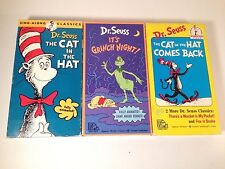 Dr. Seuss, The Cat In The Hat, Comes Back & Rare Its Grinch Night Set of 3 VHS.