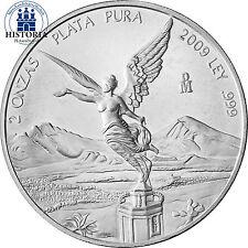 Mexiko Libertad Silbermünze 2 Onzas Silber 2009 bfr 2oz Silbermünze