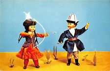 BR57158 Archery dolls in kirghiz national costumes folklore kirghizstan