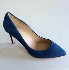 JCrew Pointy Toe Suede Pumps Women's Shoes Size 7 Blue NEW $245 Italy