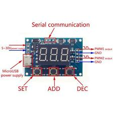 New Pulse Frequency Duty Cycle Adjustable Module Wave Signal PWM Generator