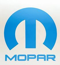 """Mopar Vinyl Decal Sticker Dodge Jeep, 5""""X5"""" DIE CUT. BLUE"""
