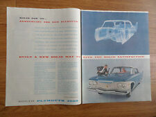 1960 Plymouth Fury Ad Solid for '60
