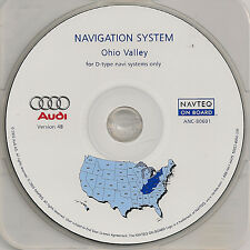 2002 2003 2004 Audi A4 A6 Allroad Navigation Map KY WV Partial IN TN MD NY OH PA