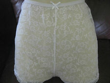Vintage white Lace French Knickers/shorts size L