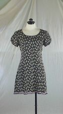 BETSEY JOHNSON New York vintage 90s black print baby doll punky grungy dress S
