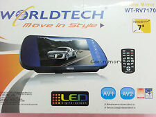 "Worldtech WT-RV7170 7""  TFT LCD Rear View Mirror Monitor With 2 Video Input"