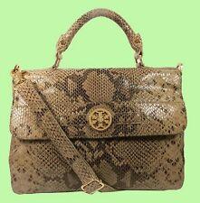 TORY BURCH Dark Sand Python Leather Satchel Shoulder Bag Msrp $550 *Reduced 70%*