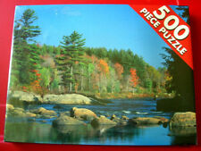 STREAM ADIRONDACKS NEW YORK 500 Jigsaw Puzzle NEW SEALED Park/River/Autumn/Trees