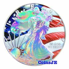 2014 1oz .999 $1 USD American Patriotic Silver Eagle Holographic Coin