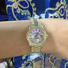 LADIES 18K PRESIDENTIAL OYSTER PERPETUAL DATEJUST ROLEX 1980s