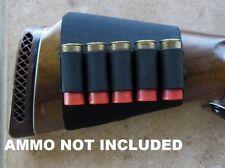 Buttstock Cartridge Holder Hunting Rifle Elastic Ammo Carrier 12g shotgun