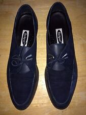 Rockport Women's Two-Tone Navy Lace-Up Leather Oxfords Loafers Size 9 N