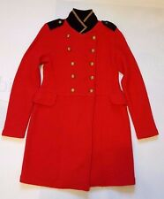 LAUREN JEANS CO RALPH LAUREN RED MILITARY COAT PETITE SIZE SMALL