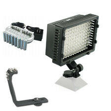 Pro 12 LED video light 8 NiM AA batteries for Sony VX2000 VX2100 PD150 PD170 cam