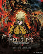 Hellsing Ultimate . Volume 5-8 Collection OVA 5 6 7 8 Anime . 3 DVD + 2 Blu-ray