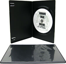(100) DVBR07BK Super Thin Slim Empty Black DVD Cases Boxes 7mm NEW Disc Media CD