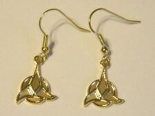 Star Trek Classic TV Series Klingon Trifoil Logo GOLD FRENCH WIRE EARINGS