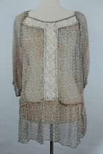 New Johnny Was 4 Love And Liberty Blouse Size S
