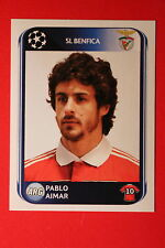 PANINI CHAMPIONS LEAGUE 2010/11 # 99 SL BENFICA AIMAR BLACK BACK MINT!